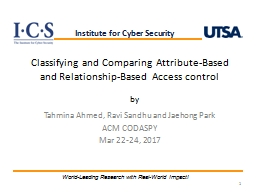 Classifying and Comparing Attribute-Based and Relationship-