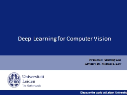 Deep Learning for Computer Vision PowerPoint PPT Presentation