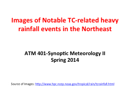 Images of Notable TC-related heavy rainfall events in the N