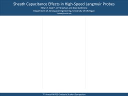 Sheath Capacitance Effects in High-Speed Langmuir Probes