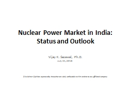 Nuclear Power Market in India: Status and Outlook PowerPoint PPT Presentation