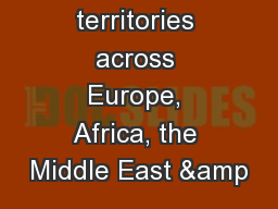 110 territories across Europe, Africa, the Middle East &
