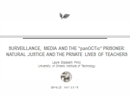 SURVEILLANCE, MEDIA AND THE ""