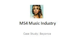 MS4 Music Industry