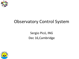 Observatory Control System