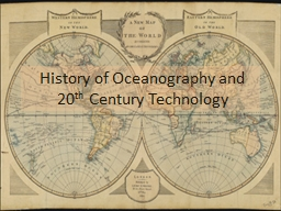 History of Oceanography and 20
