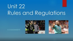 Unit 22: Rules, Regulations & Officiating in Sport PowerPoint PPT Presentation