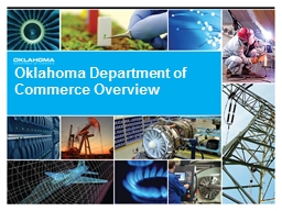 Oklahoma Department of Commerce Overview