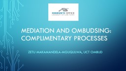 Mediation and