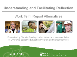 Understanding and Facilitating Reflection PowerPoint PPT Presentation