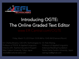 Introducing OGTE:
