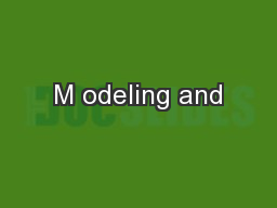 M odeling and