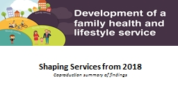 Shaping Services from 2018