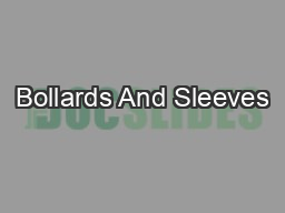 Bollards And Sleeves PDF document - DocSlides