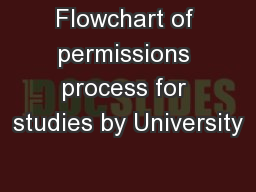 Flowchart of permissions process for studies by University PowerPoint PPT Presentation
