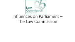 Influences on Parliament – The Law Commission