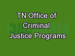 TN Office of Criminal Justice Programs