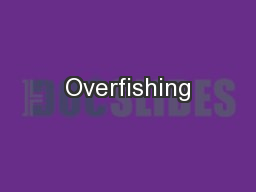 Overfishing PowerPoint PPT Presentation