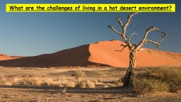 What are the challenges of living in a hot desert environme