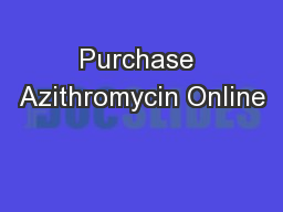 Purchase Azithromycin Online