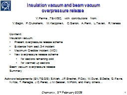 Insulation vacuum and beam vacuum