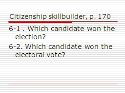 Citizenship skillbuilder, p. 170 PowerPoint PPT Presentation