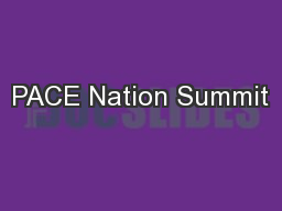 PACE Nation Summit