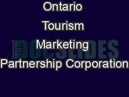 Ontario Tourism Marketing Partnership Corporation