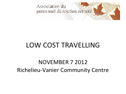 LOW COST TRAVELLING