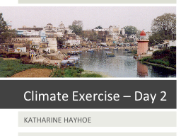 Climate Exercise – Day 2