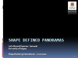 Shape defined Panoramas PowerPoint PPT Presentation