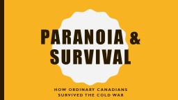 Paranoia & survival PowerPoint PPT Presentation
