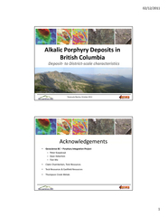 Mapped Terranes Quesnel Stikine Porphyry Occurrences