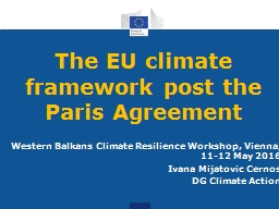 The EU climate framework post the Paris Agreement
