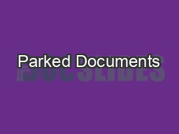 Parked Documents