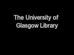 The University of Glasgow Library