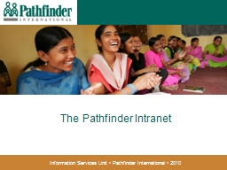 The Pathfinder Intranet