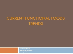 Current Functional Foods Trends
