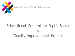 Educational Content for Septic Shock