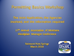 Permitting Basics Workshop