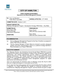 CITY OF HAMILTON PUBLIC WORKS DEPARTMENT Operations an