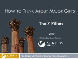 How to Think About Major Gifts PowerPoint PPT Presentation