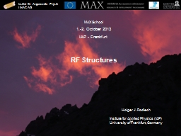 RF  Structures PowerPoint PPT Presentation