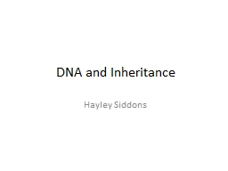 DNA and Inheritance