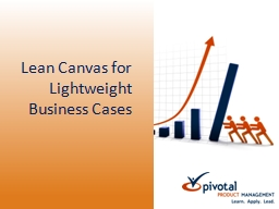 Lean Canvas for Lightweight Business Cases
