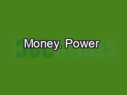 Money. Power & Values PowerPoint PPT Presentation