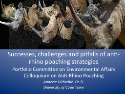 Successes, challenges and pitfalls of anti-rhino poaching s