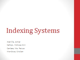 Indexing Systems
