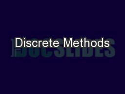 Discrete Methods
