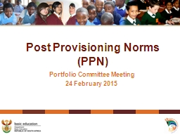 Post Provisioning Norms